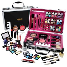 Professional Vanity Case Cosmetic Make Up Urban Beauty Box Travel Carry Gift Set by Urban Beauty 53 Piece (including individual eyeshades) Cosmetic Set in an elegant Silver Metal Case;All  Read more http://cosmeticcastle.net/professional-vanity-case-cosmetic-make-up-urban-beauty-box-travel-carry-gift-set-by-urban-beauty/  Visit http://cosmeticcastle.net to read cosmetic reviews