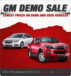 GM Demo Sale - Used and Demo Stock Must Go!