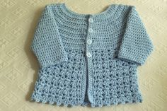 Hey, I found this really awesome Etsy listing at https://www.etsy.com/listing/488177963/crochet-baby-lace-sweather-pattern
