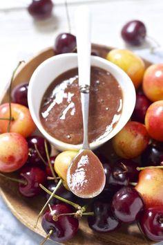 Cherry basil puree. #healthy #babyfood