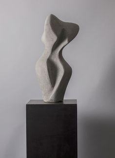 "Standing Torso Series 1 View 1 - concrete - 33""h x 14""w  10""d"