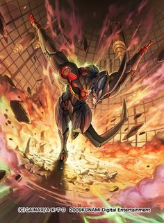 グレンラガン KONAMIから発売された天元突破グレンラガンのドリル銀河大戦カードゲームで描かせて頂いたラゼンガンのイラストです。もうコイツ大好きです。アスリートですね。