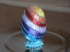 Писанка з нарцисами канзаши. Пасхальное яйцо с нарциссами. Easter egg kanzashi - YouTube