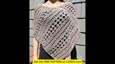 crochet poncho for women tutorial