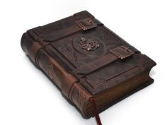 Chance handmade brown leather  journal   vintage style by dragosh, $145.00