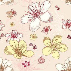 Free Seamless Flower Pattern #freebies
