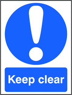 Keep clear sign.  Beaverswood - Identification Solutions