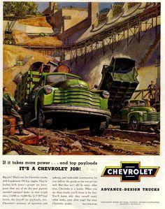 Peter Helck, auto art, the Chevrolet Way