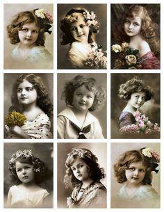 *** Vintage Little girl***! Vintage Children Photos, Images Vintage, Look Vintage, Vintage Girls, Vintage Pictures, Vintage Photographs, Vintage Beauty, Vintage Prints, Retro Images