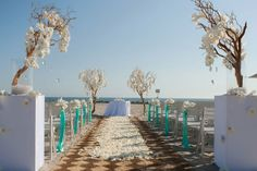 Beautiful beach wedding decor at Hotel Del Coronado in San Diego, By  Karen Tran Floral's