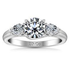 Three Stone Engagement Ring Chantal 14K White Gold
