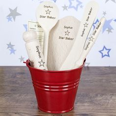 The Kitchen Gift Company – Personalized Children's Baking Set – Star Baker Design, £ (www. Personalised Christmas Presents, Personalized Gifts For Kids, Baking Recipes For Kids, Baking With Kids, Baking Ideas, Childrens Baking, Star Baker, Baking Utensils, Kitchen Utensils