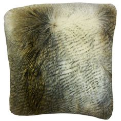 Valeska Faux Fur Pillow Beige