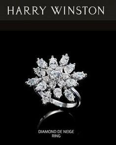 Harry Winston diamond de neige ring