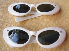 1950's Ivory Cat's Eye Women's Sunglasses by PearlsPretties, $75.00