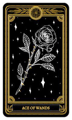 Ace of Wands • The Marigold Tarot #tarotcardsdiy