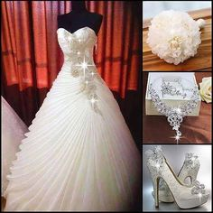 Beautiful Wedding dress and accessories.