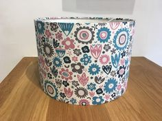 Pink and blue floral lampshade flowers ceiling or lamp base  £28.00