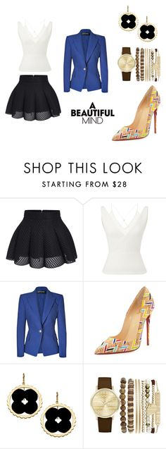 """""""Untitled #81"""" by acaguiar on Polyvore featuring Roland Mouret, Balmain, Christian Louboutin, Asha by ADM and Jessica Carlyle"""