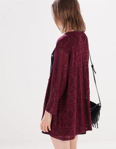 Jachetă tricotată dantelată