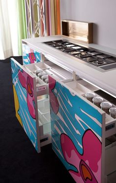 Enrico coveri living designs by aster cucine modern for Aster kitchen cabinets