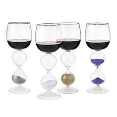 Hourglass Wine -  All I see is wine stains on my carpet