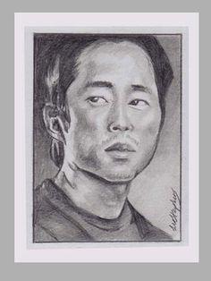The Walking Dead : Glenn Pencil ACEO