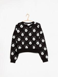 Svart - Mickey Cropped sweater