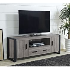 60-inch Urban Blend Ash Grey Wood TV Stand | Overstock.com Shopping - The Best Deals on Entertainment Centers