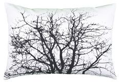 Broste Copenhagen Branch Cushion Cover, White and Slate Blue. bringing outside inside. Broste Copenhagen, Mobile Shop, Lampshades, Branches, Home Accessories, Home Goods, Cushions, Tapestry, House Design