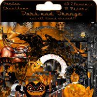 Scrapkit Dark and Orange [DeniseC] - $1.50 : LowBudgetScrapping