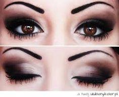Znalezione obrazy dla zapytania makijaż piwnych oczu