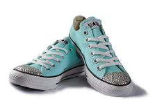 Tiffany Blue Converse Chuck All Stars! Love the crystals!!!! Must buy!!!!!!