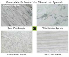 Kitchen Countertop Options Quartz That Look Like Marble Carrara