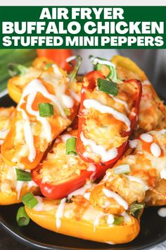 SOO GOOD!!! 1g carb per serving! Make these low carb Buffalo Chicken Stuffed Mini Peppers in the air fryer or oven! They are the perfect game-day appetizer or snack! Game Day Appetizers, Best Appetizers, Fun Food, Good Food, Yummy Food, Chicken Minis, Stuffed Mini Peppers, Party Food And Drinks, Perfect Game