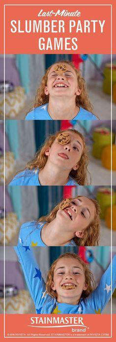 Games For Girls Sleepover, Sleepover Birthday Parties, Fun Sleepover Ideas, Slumber Party Games, Birthday Party Games, Girl Birthday, Games For Sleepovers, Pajama Party Games, Birthday Crafts