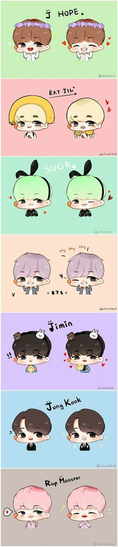 BTS Fan Årt Members • Kawaii