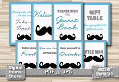 Baby Shower Table Signs Baby Shower Sign by DigitalitemsShop
