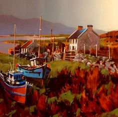 """""""Boats in Field, Achill Island,"""" by Michael O'Toole"""