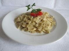 Jó tésztából finom! Ravioli, Risotto, Waffles, Oatmeal, Dishes, Breakfast, Ethnic Recipes, Food, Desk