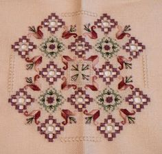 A while ago I decided to try my skills at hardanger , an embroidery technique that involves leaving cut out squares. In my previous post St. Hardanger Embroidery, Embroidery Stitches, Embroidery Patterns, Hand Embroidery, Types Of Embroidery, Learn Embroidery, Drawn Thread, Satin Stitch, Bargello