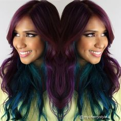 Crazy Hair Colours - What You Need To Know Before Taking The Leap.  Purple, teal, blue, peacock coloured hair, hot pink hair, bright colours, bright orange hair