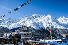Kyanjin Ghompa village 3.800 meters in Langtang, Himalaya, Nepal.