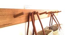 Hardwood coat rack / coat pegs. Shaker inspired. Made to order in Castlemaine, from 4 to 12 pegs wide, order to suit your space or storage needs. Buy online
