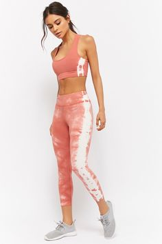 forever 21 active tie-dye capri leggings + sports bra l cute matching workout sets l Outfits Leggins, Yoga Pants Outfit, Sporty Outfits, Cute Outfits, Men's Pants, Yoga Shorts, Modest Outfits, Fitness Outfits, Womens Workout Outfits