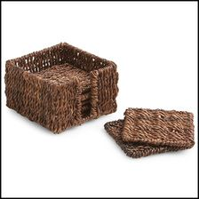 """Our Abaca Square Coaster Set is the perfect solution for both indoor and outdoor entertaining. Our handcrafted Abaca items are 100% environmentally friendly.  Handmade in the Philippines.  Size: 4"""" x 4"""""""