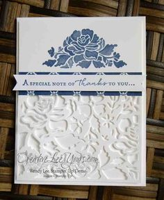 Stampin' Up! - Elegant Thank You by Wendy Lee/Creativelee Yours: Floral Phrases, Detailed Floral Thinlits, Floral Boutique DSP Stampin Up Catalog, Beautiful Handmade Cards, Stamping Up Cards, Sympathy Cards, Card Tags, Cool Cards, Flower Cards, Homemade Cards, Making Ideas