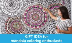 Looking for the latest coloring products, a housewarming gift, an activity piece for an upcoming event? Say hello to the GIANT size mandala coloring poster wallpaper. The mural is completely covered i