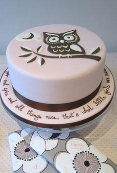 owl cake for owl themed baby shower