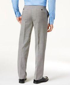 Lauren Ralph Lauren Check 100% Wool Flat-Front Dress Pants - Black 30x30